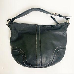 Coach Black Leather Hobo Legacy Bag Tote